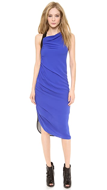 Vera Wang Collection Sleeveless Bi-Color Dress