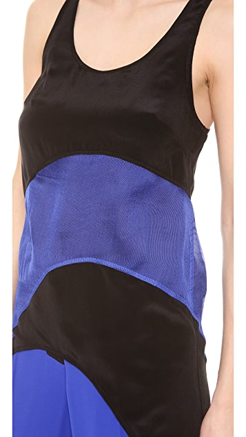 Vera Wang Collection Sash High Low Tank