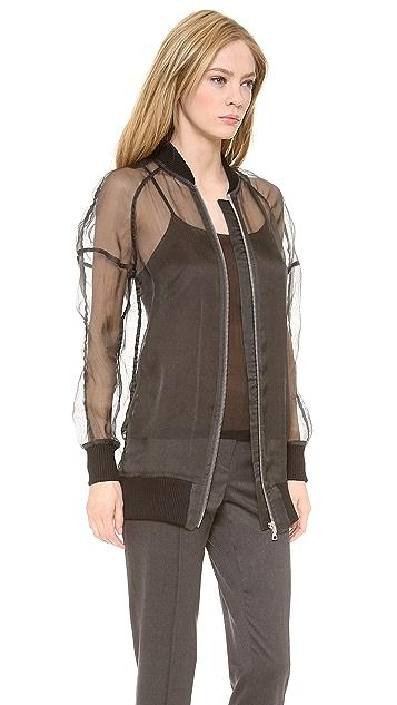 Vera Wang Collection Zip Up Baseball Jacket