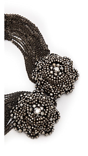 Vera Wang Collection Draped Flower Necklace