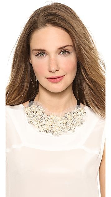 Vera Wang Collection Imitation Pearl Tie Necklace