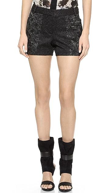 Vera Wang Collection Stretch Pebble Shorts