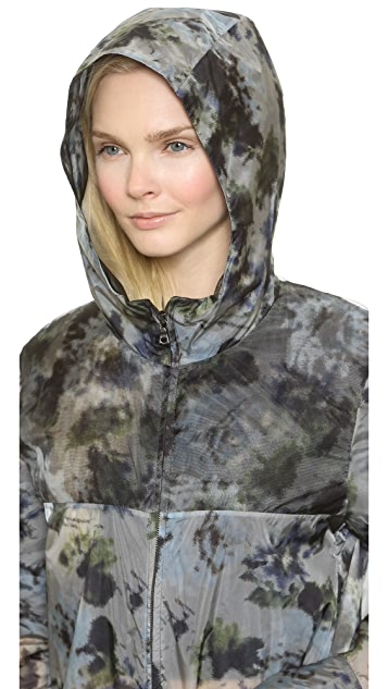 Vera Wang Collection Watercolor Organza Parka