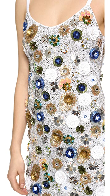 Vera Wang Collection Sequin Party Dress