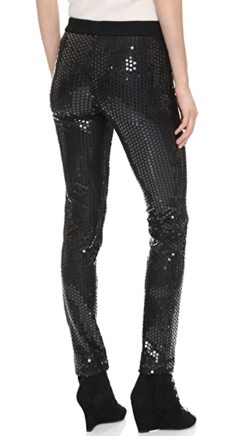 Vera Wang Collection Sequined Skinny Pants