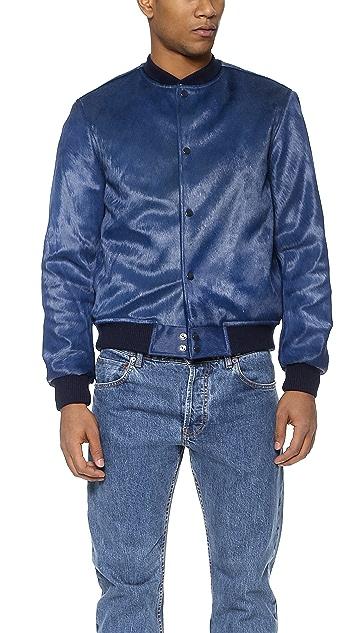 Anzevino Getty Haircalf Bomber Jacket