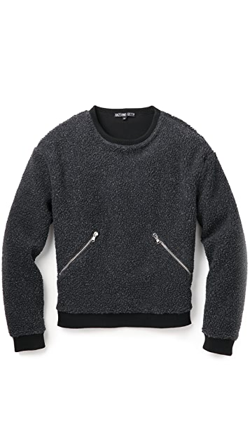 Anzevino Getty Fleece Crewneck