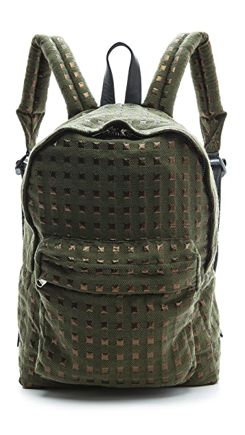 Anzevino Getty Gold Squares Backpack