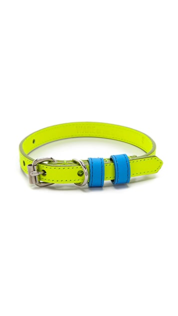 Ware of the Dog Small Dog Two Tone Leather Collar