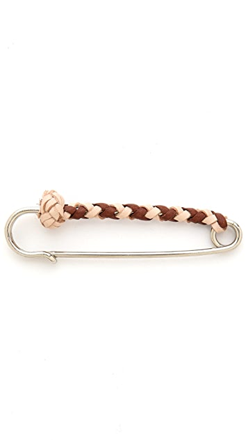 Warhorse Workshop Leather Braided Pin
