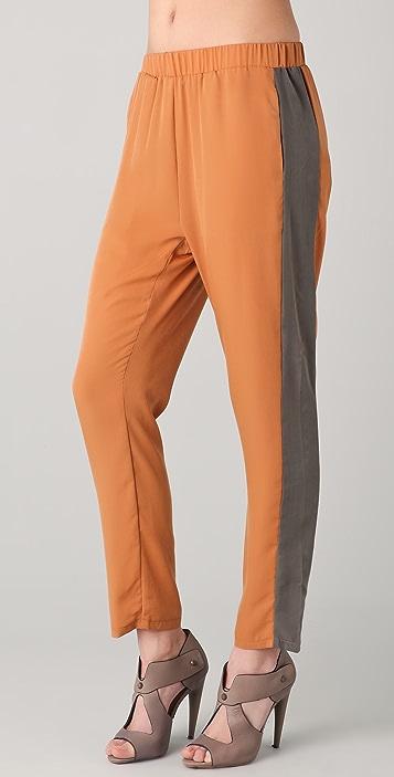 Washborn Side Stripe Trousers