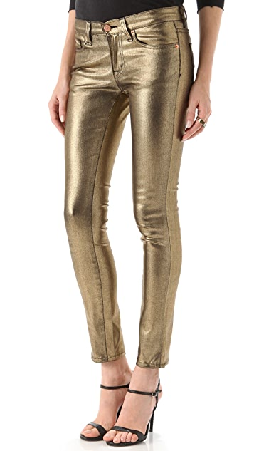 Washborn Skinny Coated Jeans