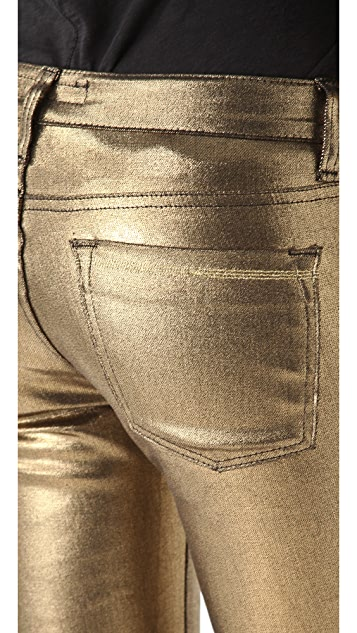 Washborn Skinny Coated Jeans