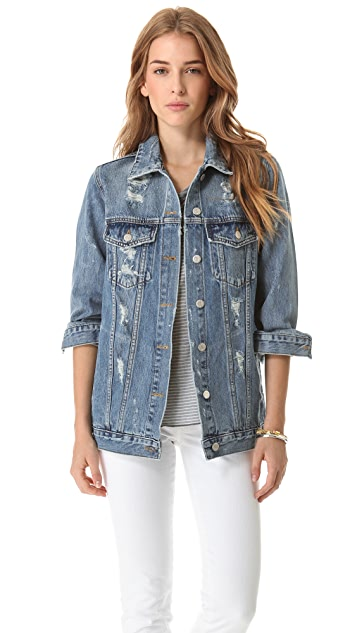 Washborn Oversize Denim Jacket