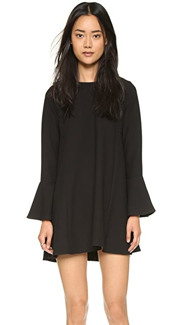 WAYF Flutter Sleeve Dress