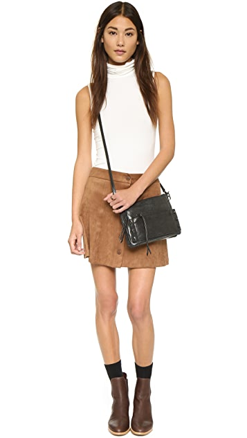 WAYF Button Front Skirt