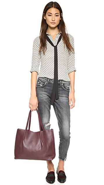 WAYF Tie Front Blouse