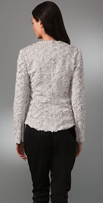 Wayne Faux Fur Asymmetrical Jacket