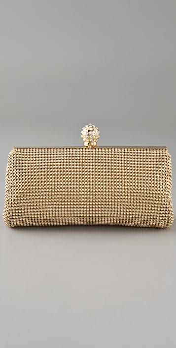 Whiting & Davis Classic Dimple Mesh Clutch