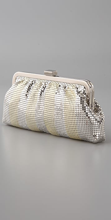 Whiting & Davis Matte Shine Stripe Clutch