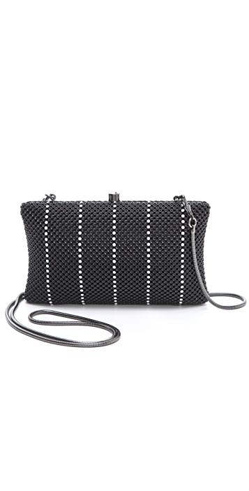 Whiting & Davis Crystal Classics Dimple Mesh Clutch