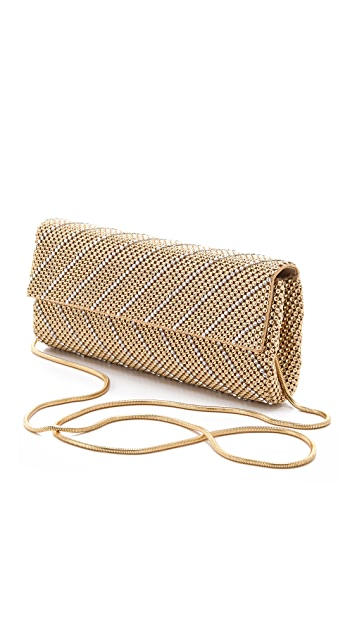 Whiting & Davis Crystal Chevron Clutch