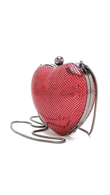 Whiting & Davis Charity Heart Clutch