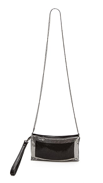 Whiting & Davis Contrast Edge Cross Body Bag