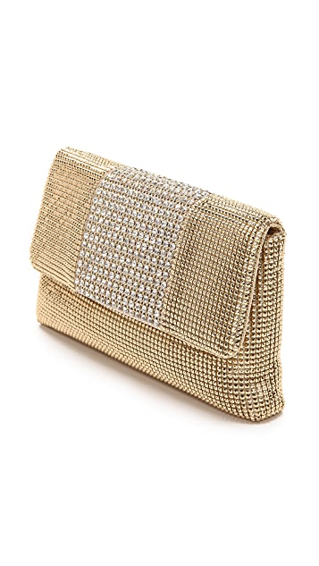 Whiting & Davis Crystal Panel Clutch