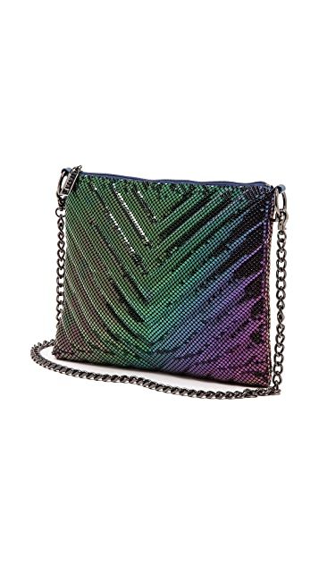 Whiting & Davis Quilted Chevron Cross Body Bag