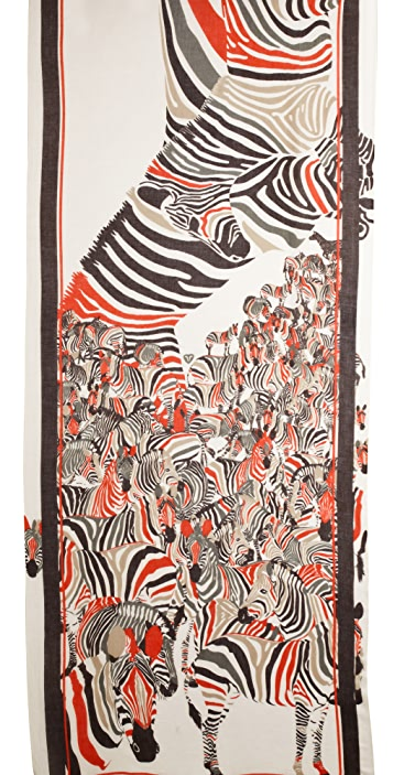 we are owls Zebras Cashmere Scarf