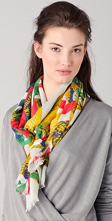 we are owls Snakes Cashmere Scarf