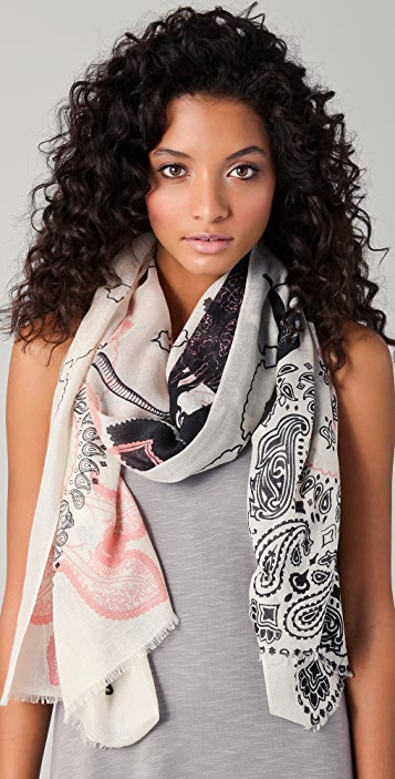 we are owls Skulls Cashmere Scarf