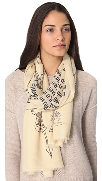 we are owls Manuscript Scarf