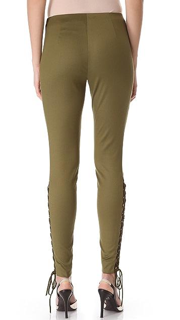 Wes Gordon Lace Up Pants