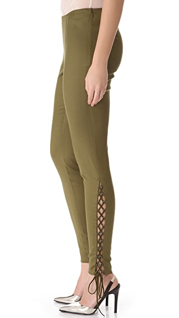 Wes Gordon Lace Up Pants
