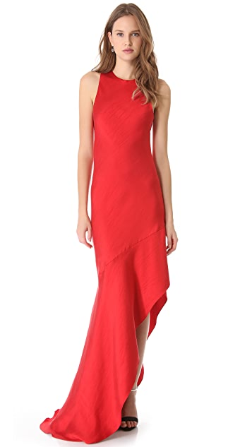 Wes Gordon Asymmetrical Bias Dress
