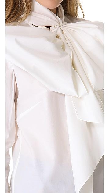Wes Gordon Tie Neck Shirt