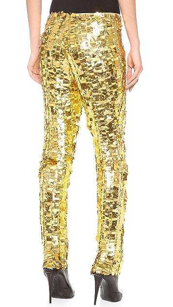 Wes Gordon Skinny Silk Pants