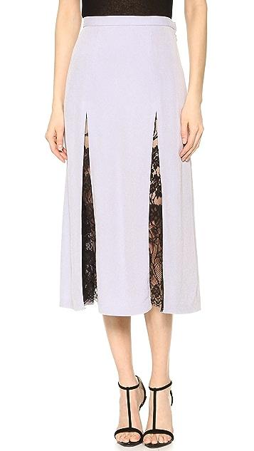 Wes Gordon Lace Godet Skirt