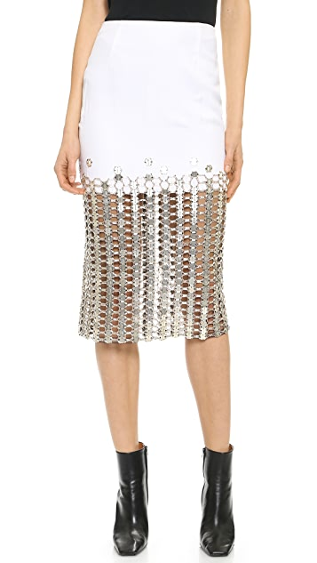 Wes Gordon Skirt with Swarovksi Crystals