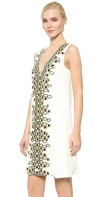 Wes Gordon Embroidered Shift Dress