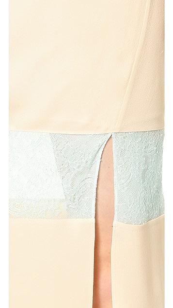 Wes Gordon Banded Lace Skirt