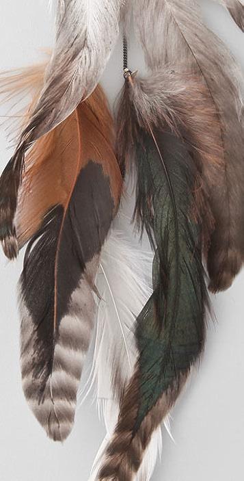 WGACA Vintage Feather Earrings