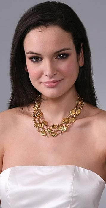 WGACA Vintage Vintage Chanel Triple Chain Necklace