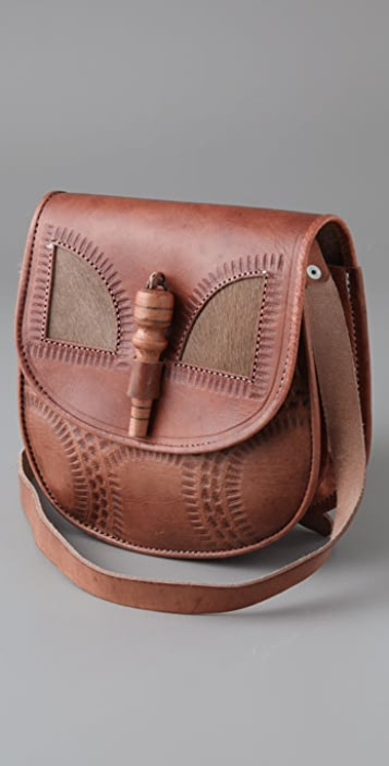 WGACA Vintage Ethnic Inlay Bag