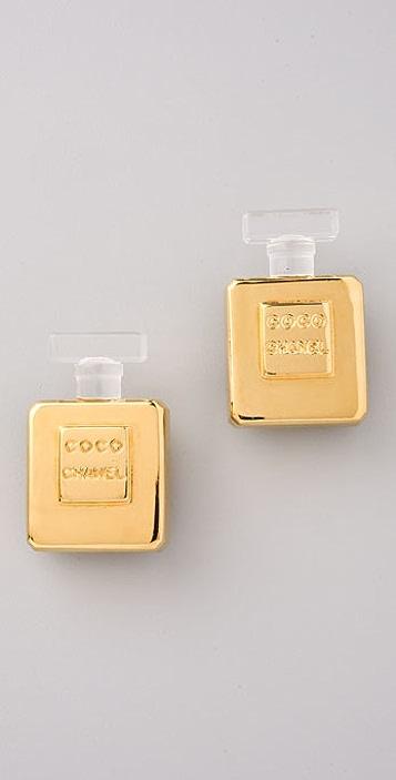 WGACA Vintage Vintage Chanel Perfume Bottle Earrings