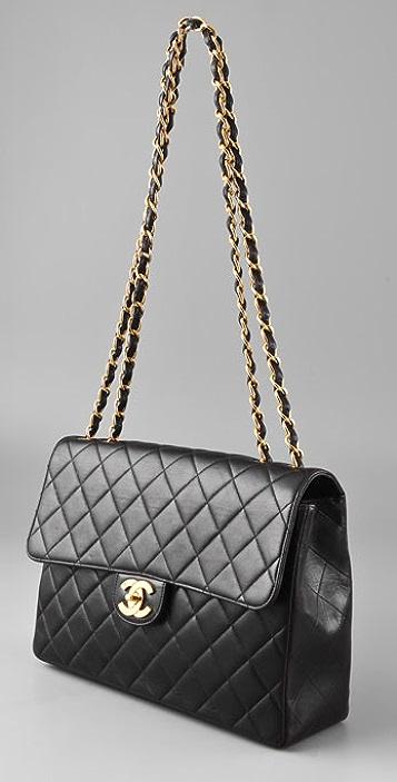 WGACA Vintage Vintage Chanel 2.55 Flap Bag
