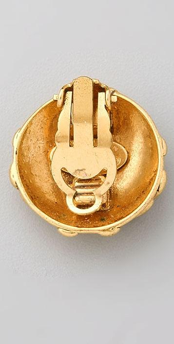 WGACA Vintage Vintage Chanel '93 CC Clip Earrings