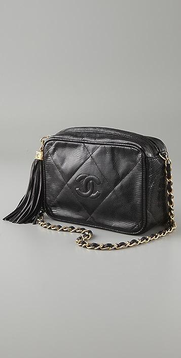 WGACA Vintage Vintage Chanel Lizard Bag with Tassel